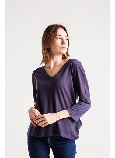 Çift Renk Biye Detaylı Bluz-Love'n Fashion Paris